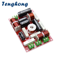 Tenghong 3 Way Home Audio Crossover 200W 4/8Ohm Treble MID Bass Speaker Crossover Universal Speaker Filter Frequency Divider DIY
