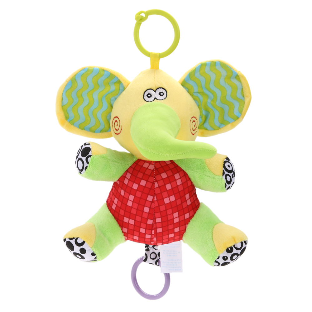 Baby Infants Crib Stroller Hanging Plush Doll Toy Soft Musical Grasp Doll Toy Pull Ring  ...