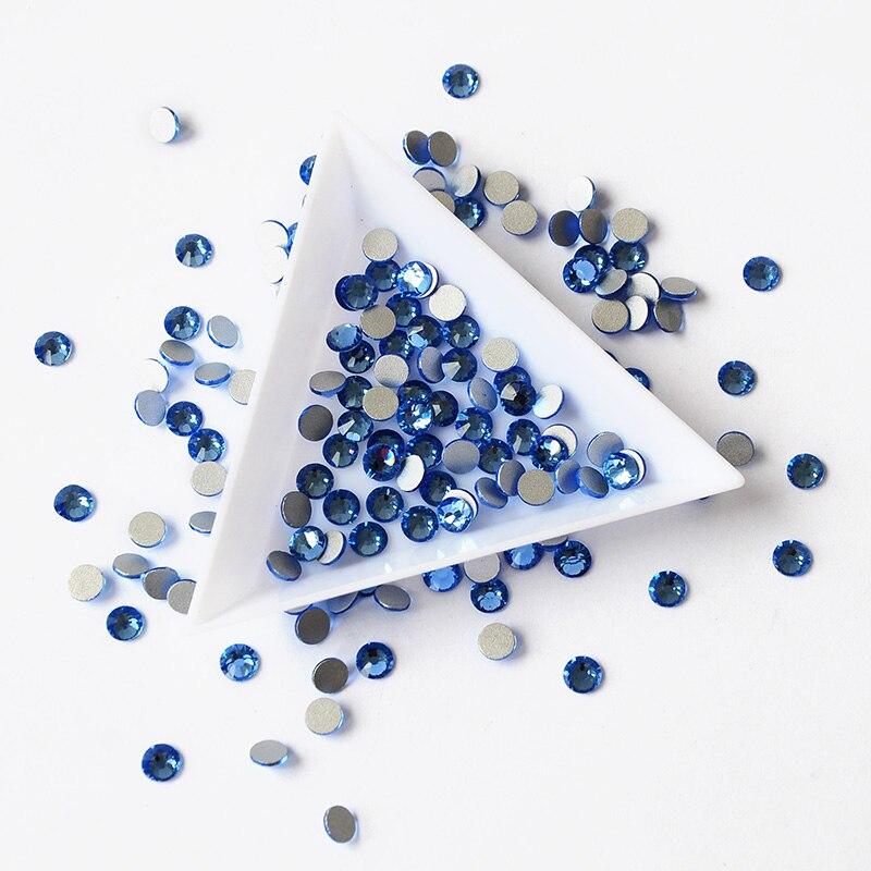 2058NoHF Light Sapphire Todos los tamaños Cristales Rhinestones No - Arte de uñas - foto 2