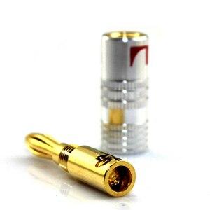 Image 4 - 12 50 pçs de alta fidelidade banana plug 24k banhado a ouro cobre bfa 4mm banana conector macho altofalante plug preto & vermelho