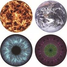 Больше круглый коврик для мыши рисунок планеты Земля оптики резиновые коврик для мыши мат игры для компьютера планшета коврики с запертыми край