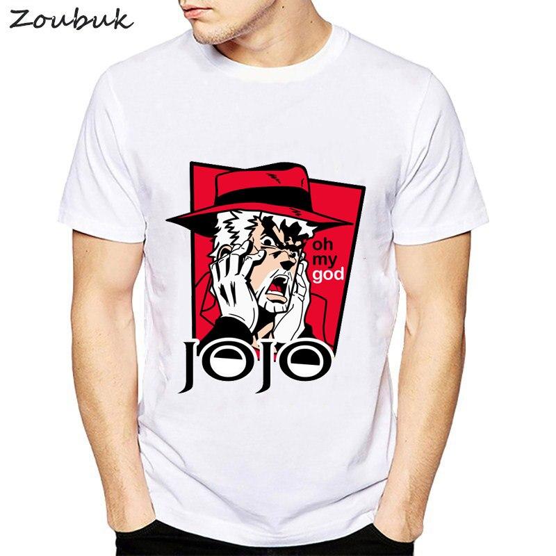 JoJo Bizarre Adventure   T     Shirt   Design Manga Anime   T  -  shirt   Cool Novelty Funny   T     shirt   Style Men Printed Fashion Tee   shirt   homme