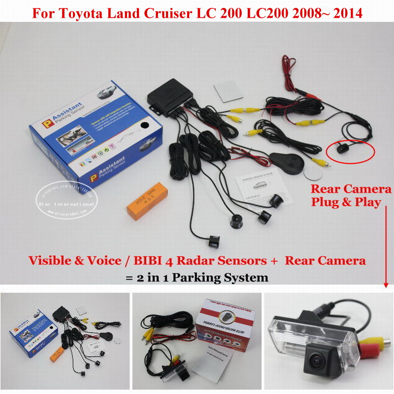 Liislee For Toyota Land Cruiser LC 200 LC200 Car Parking Sensors Rear View Camera 2 in
