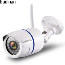 GADINAN 1080P HD Wireless Outdoor Bullet IP Waterproof WIFI Camera Support Androis IOS Security CCTV Camera TF Card Slot CamHi