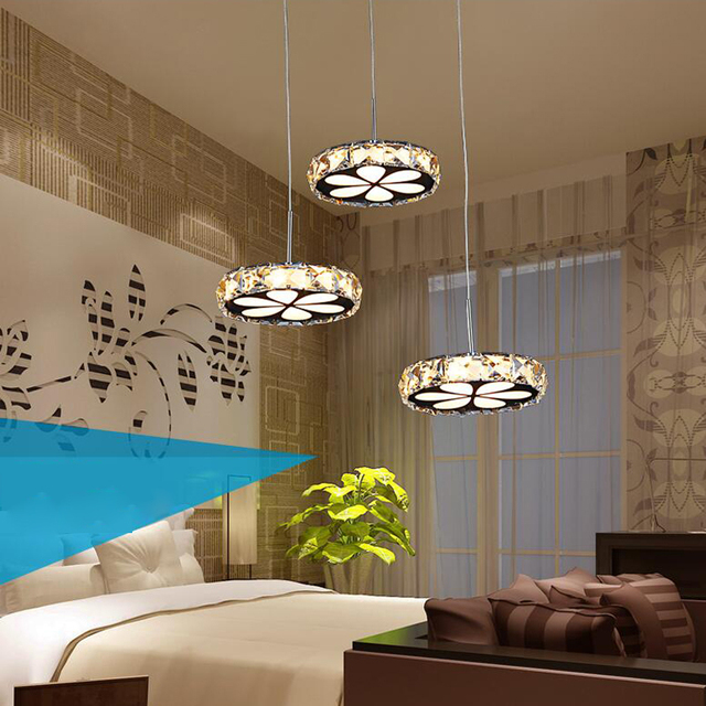 Led Modern Crystal Pendant Lights Retro 3 Dining Room Bar Kitchen Light Fixtures Droplight Hanging Lamp Home Lighting