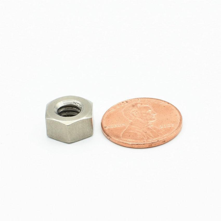 24/50 pcs 1/4 UNC US Units Imperial Units Titanium Nut Original Ti Color Not Polished Grade 2 Titanium Screw Ti Fastener