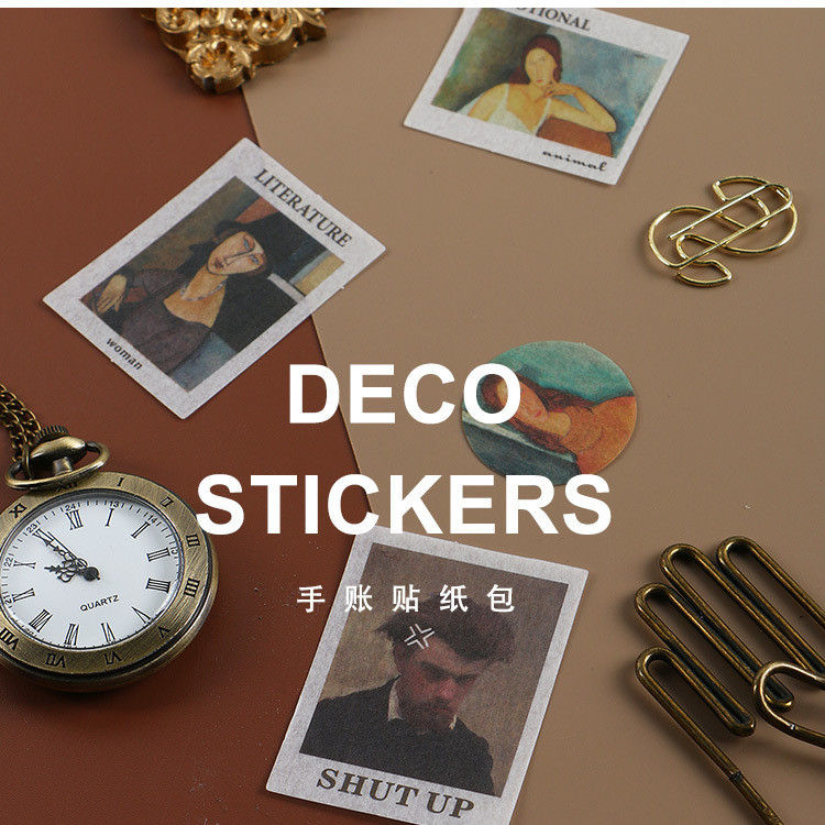 20 Pcs/pack Great Artist Painting Label Stickers Decorative Stationery Stickers Scrapbooking Diy Diary Album Stick Label