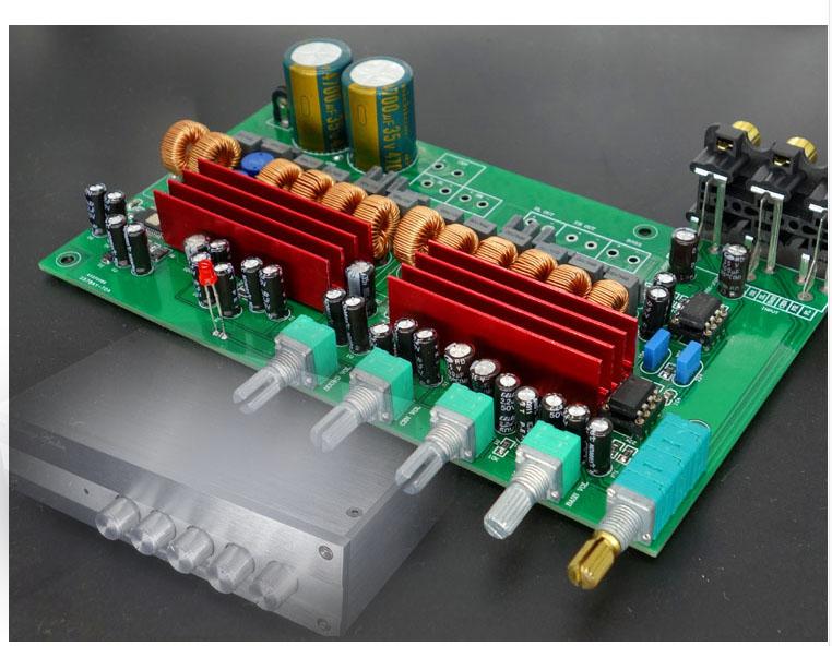 Assemblé TPA3116 5.1 6 canaux 100 W + 50 W * 5 carte amplificateur + tonalité ajuster carte Amp