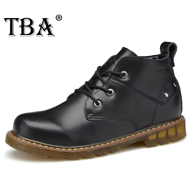 2017 TBA 8077# new hot men's martin boots genuine leather boots tooling Boots male high-top leather men's bulk walking shoes men shoes martin boots genuine leather male fashion casual shoe to help the high wear water resistant tooling boots