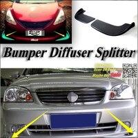 Auto-Splitter Diffusor Stoßstange Canard Lip Für Chevrolet Optra Immobilien Nubira J200 Tuning Body Kit/Vordere Deflector Auto Fin kinn