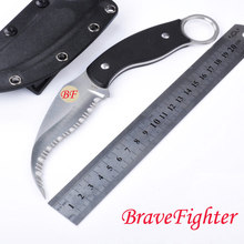 Brave Fighter CS Karambit C12GS 59-60HRC VG-10 blade Full gear G10 handle Full Gear fixed knife outdoor camping survival tool