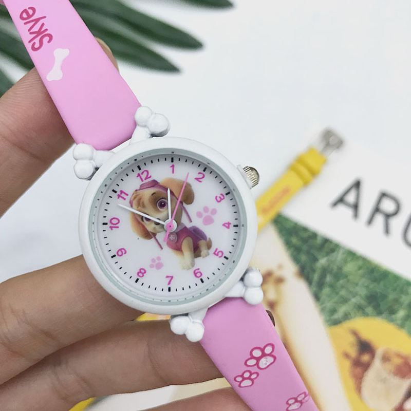 Paw Patrol Silicone Watch Child Quartz Wrist Fashion Cartoon For Young Children Student Watch Gift Toy Horses For Children