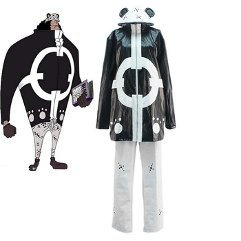 High-Q Unisex Anime Cos One piece Seven Warlords of the Sea Bartholemew Kuma PX-0 The Tyrant Cosplay Costume Set