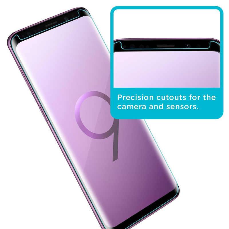 Suntaiho vidrio templado curvado para Samsung Galaxy A50 s8 S9 S10 S10 plus S7 edge Protector de pantalla para Samsung Note 8 9 S10E película