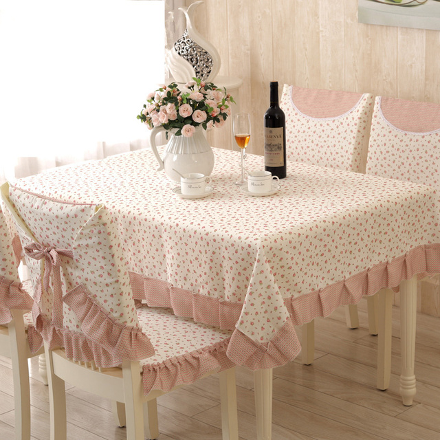 Superbe Country Style Elegant Table Cloth Rectangular Tablecloths 13 Pcs/set Table  Cover With Chair Covers