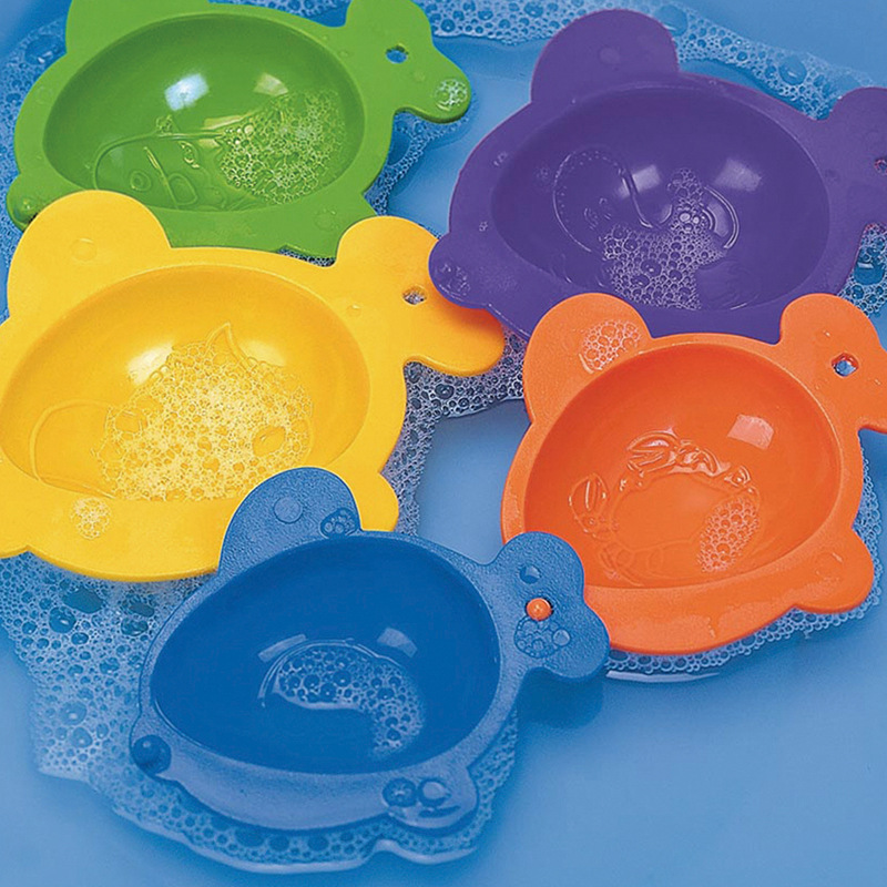 Baby Educational bath toy the link fish cup bowl game in bright color  for play water and sands 5 pcsset