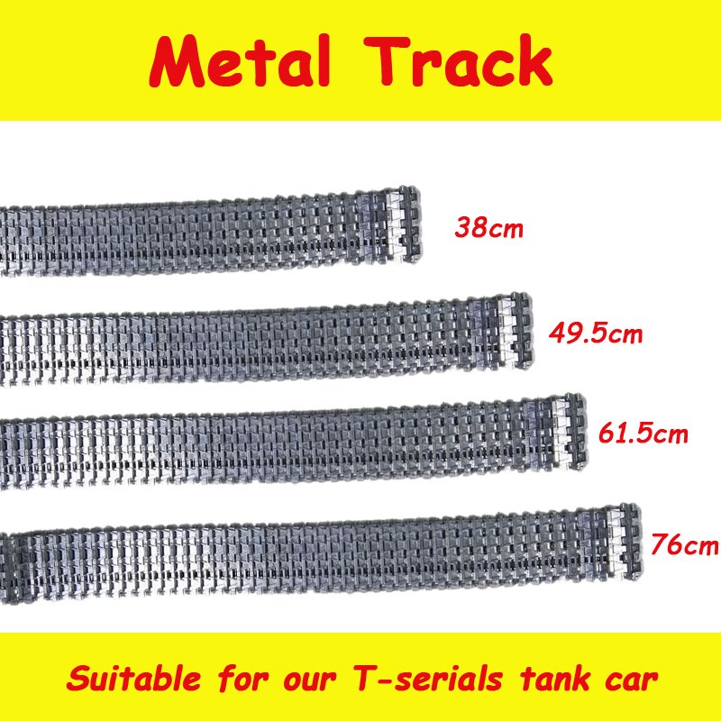 Metal Robot Tank Crawler Track Caterpillar Chain 75cm for 3818/3818-1 RC Robot Tank Chassis Parts Heng Long 1/16 Tiger I Tank metal track for diy robot tank car metal chain belt caterpillar width 4 5cm