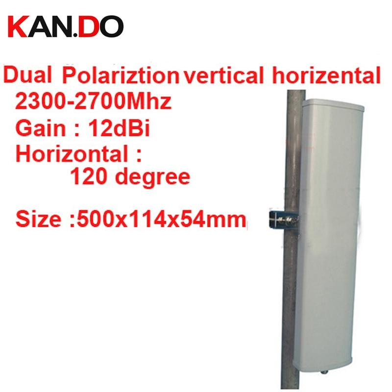 12dbi polarisation horizontale verticale 120 deg 2.3-2.7G antenne panneau 2.4G wifi antenne Base station FDD 4G antenne TDD