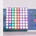 Free Ship 50pcs 58.5*58.5MM digital tube anode 8*8 RGB Square lattice module 60*60MM Dot Matrix