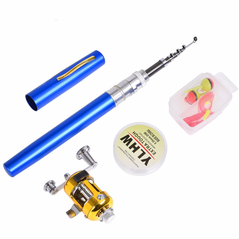 Easy to carry Small Fish Set Telescopic Fish Rod Baitcasting Fish Reel Line hooks Fishing Float Seat Boat Tackle
