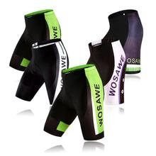WOSAWE Unisex Pantalones Cortos de Ciclista GEL Pad MTB Downhill Mountain Bike Riding Bicicletas Tight Medias ciclismo roupas Transpirable