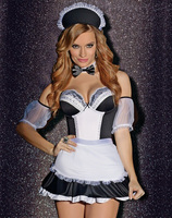 Maid For You Costume French Maid Sexy Off Shoulder Costumes Party Helloween Cosplay Outfit