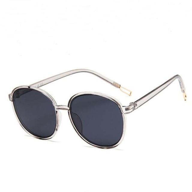 Transparent Round Sunglasses Classic Oversized Clear Frame EyeGlasses UV400 New