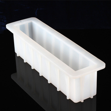 Nicole Loaf Soap Silicone Mold White Rectangular Handmade Swirl Soaps Making Tool Mould