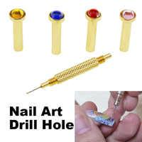 Nail Punta del trapano Foro Nails Art Gel UV Acrilico Manicure Utensili A Mano MH88