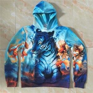 Image 3 - Dream by JoJoesart Tiger 3D Hoodies Sweatshirt Men Women Hoodies Fashion Streetwear Drop Ship Pullover Animal Hoodie ZOOTOP BEAR