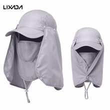 Lixada Fishing Sun Protcet Cap Outdoor Sport Hiking Camping Visor Hat UV Protection Face Neck Cover Hat Unisex(China)