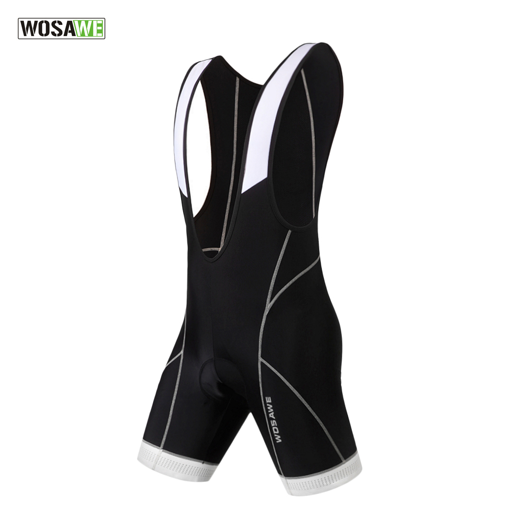 WOSAWE Black Bicycle Bib Shorts Men Outdoor Wear Bike Cycling 3D Gel Padded Riding Bib Shorts Cycling Bib Shorts велошорты 15 051 men bib shorts s 922 c7 с лямками с памперсом c7 черные m funkierbike