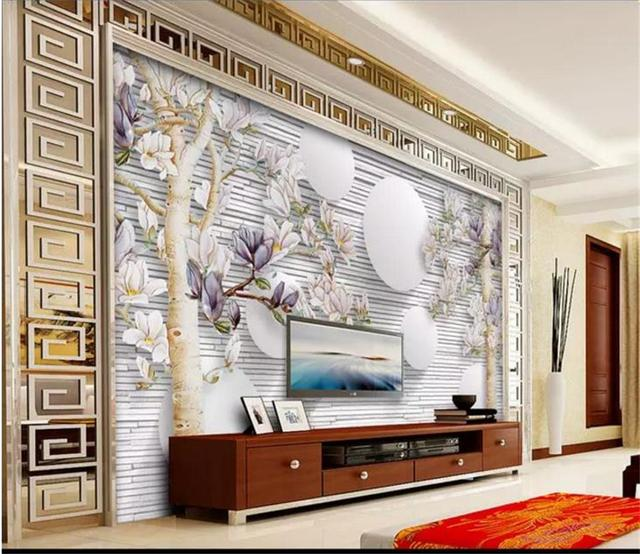 Custom Size 3d Photo Wallpaper Living Room Mural Jade Orchid Tree Pieces Painting Picture Sofa
