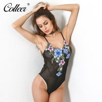 COLLEER 2018 New Women Bar Set Burst High Grade Embroidery Gauze Female Sexy Lingerie Set Underwear