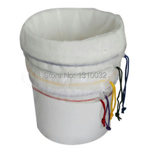 Image 1 - All Mesh Bubble Bags 5 Gallon 5pcs Kit Herbal Ice Extractor Hash Essence Shampo filter herb extraction bag