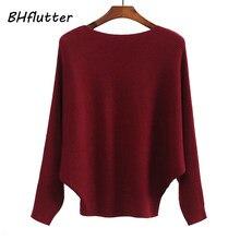 Bhflutter suéter casual feminino, blusas de malha, casaco de caxemira da moda de inverno 2019