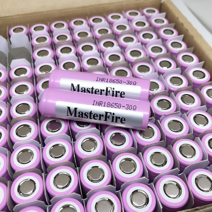 MasterFire 10pcs lot 100 Original 3 7V INR 18650 30Q 3000mAh Rechargeable Lithium Battery For 18650 Batteries E Cigarette in Rechargeable Batteries from Consumer Electronics