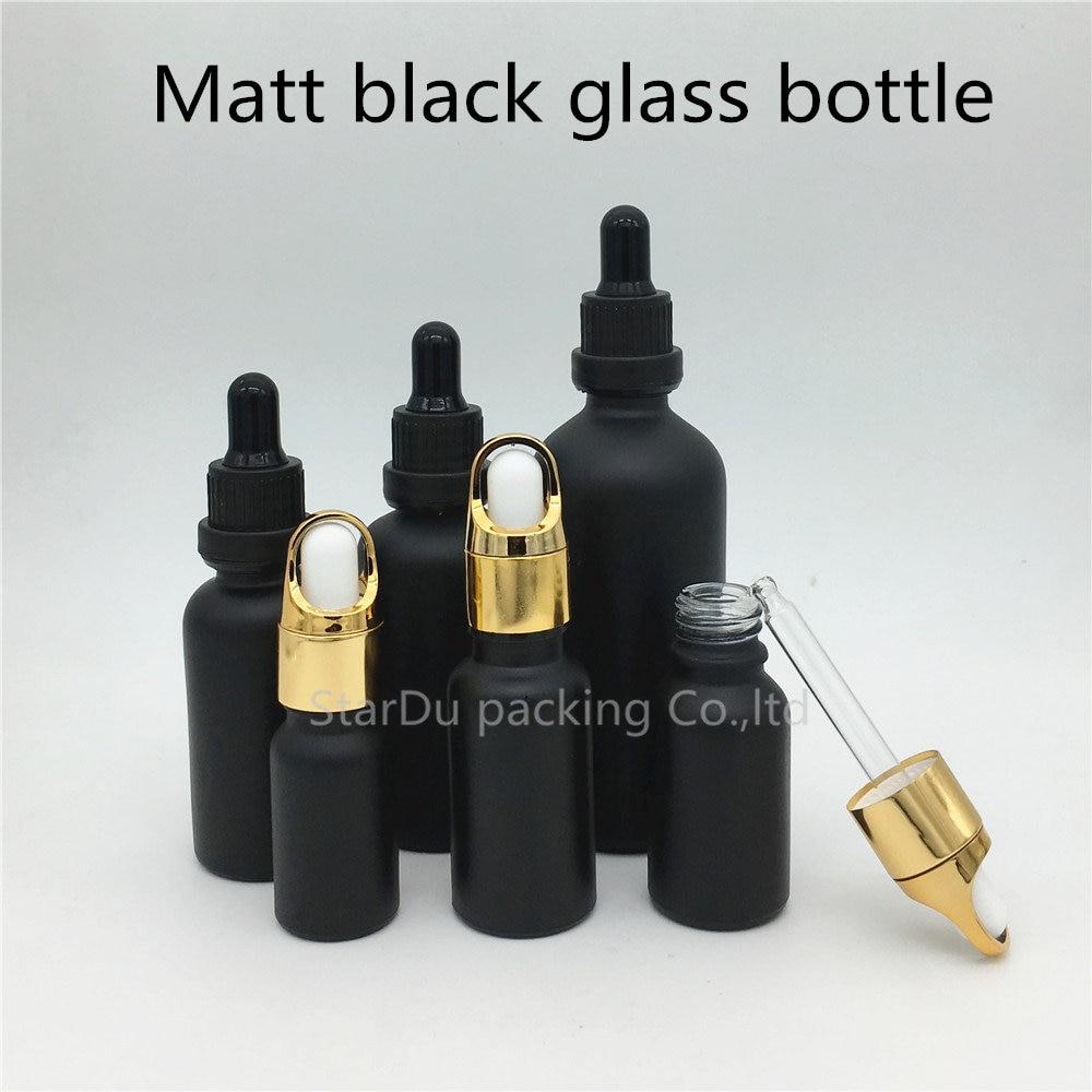 10ml 15ml 20ml 30ml 50ML 100ML Matt Black Glass Bottle With Dropper Essential Oil Bottle Perfume bottle free shipping 5 10 15 20ml 10pcs lot glass green essential oil bottle with dropper packing dilution bottle