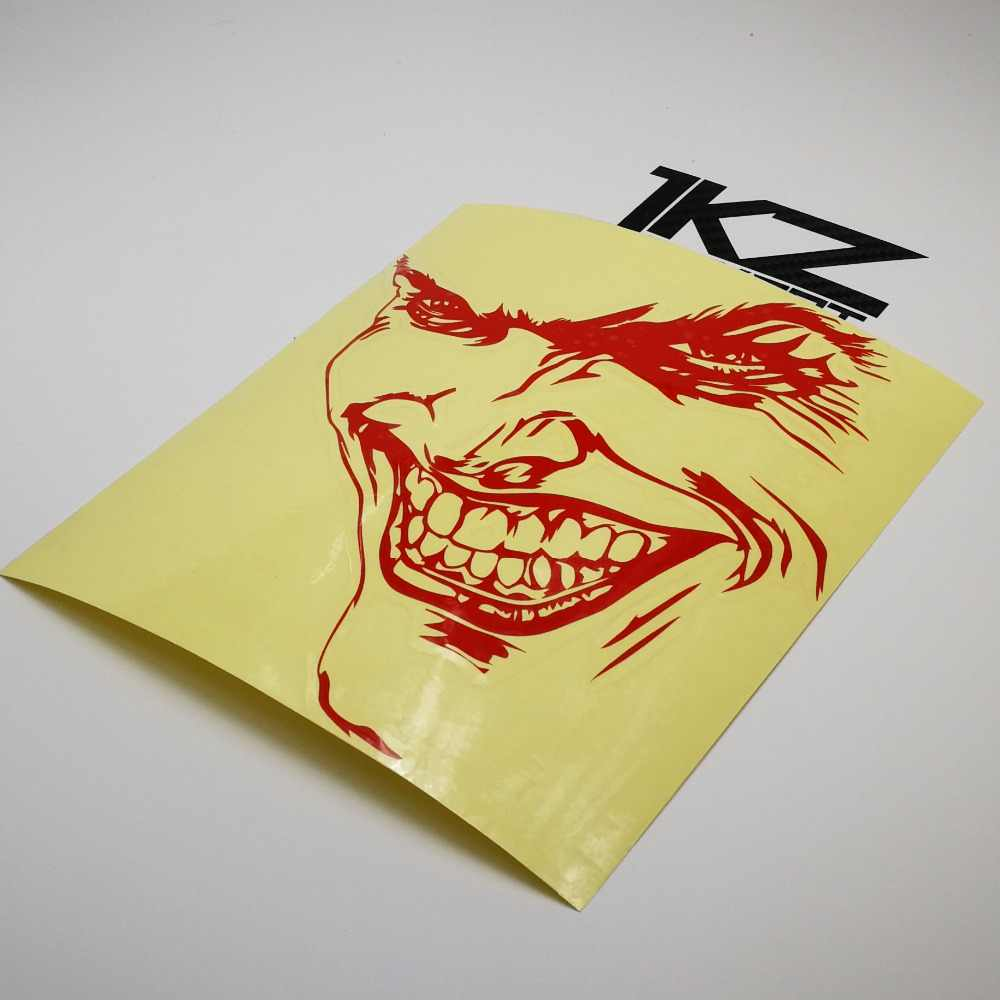 Jkz stkart vinyl die cut car stickers decals joker face 16 x 14 cm for motor