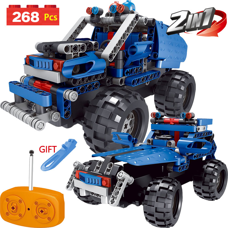 Technic Series LegoINGLYS Vehicle Truck Offroad SUV Radio Remote Control Machine Simulation Car Blocks DIY Toys For Children 2 in 1 rc car compatible legoinglys radio technical vehicle green suv control blocks assembled blocks children toys gift