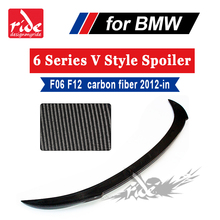 цена на F06 V Style Rear Trunk Spoiler Carbon Fiber For BMW 6 Series F12 F13 640i 650i 640d 650d & M Series M6 Look spoiler 2 Door 12-in