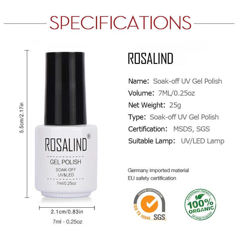 Rosalind Gel 1S Nagellak 7 Ml Naakt 20 Kleur Serie Semi Permanente Nail Art Gel Lak Losweken nail Versterking Gel