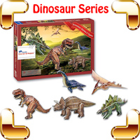 New DIY Gift Dinosaur Series 3D Model Textbook Learning Puzzle DIY Education Toys For Kids Paper Puzzle IQ Game Puzzle