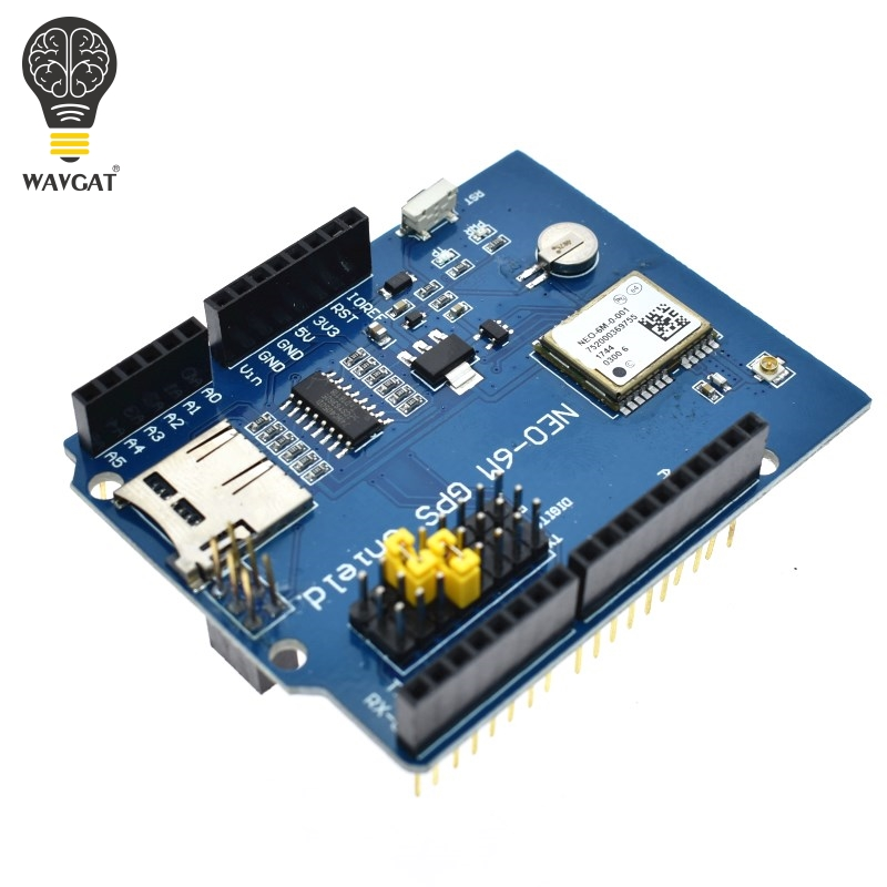 WAVGAT NEO-6M GPS Logger Shield Expansion Board Module Shield SPI UART w/  SD Card Slot for Arduino UNO R3 ONE