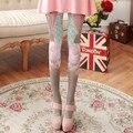 Série de modelos de primavera e outono meias de seda de veludo Harajuku Mulheres impressão coelho personalitytights