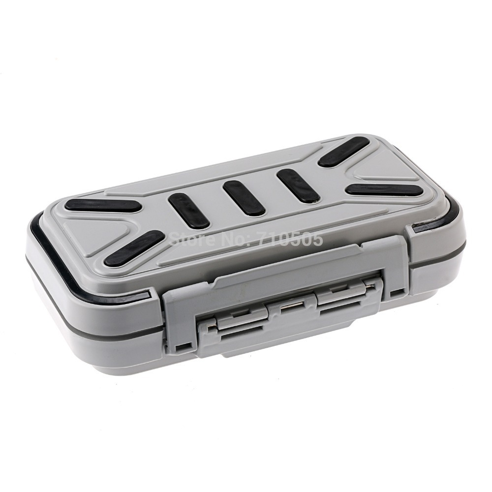 HENGJIA16 Compartments Waterproof Fishing Fish Lure Hook Bait Tackle Box Case - Gray