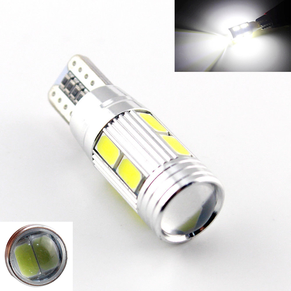 Buy 2x Car Auto Led T10 194 W5w Canbus 10smd 5630 5730 Led Light Bulb No Error