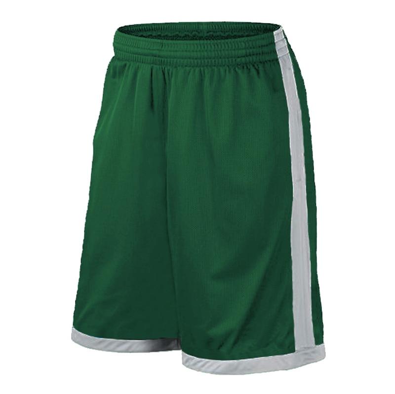 Баскетбольные шорты размера плюс, мужские спортивные шорты, мужские быстросохнущие баскетбольные шорты с карманами, баскетбольная майка высокого качества - Цвет: Green White