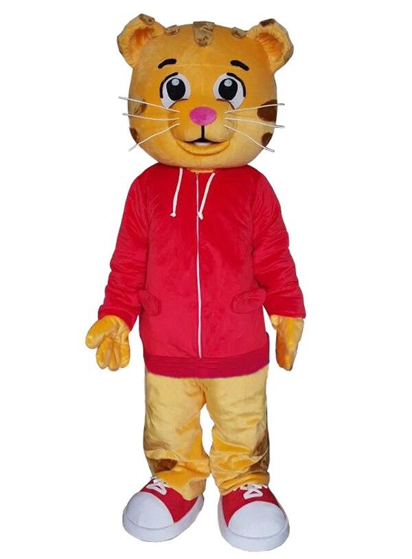 Haute qualité Daniel le tigre Mascotte Costume rouge tigre Mascotte thème Cosplay Mascotte carnaval Costume fantaisie fête robe