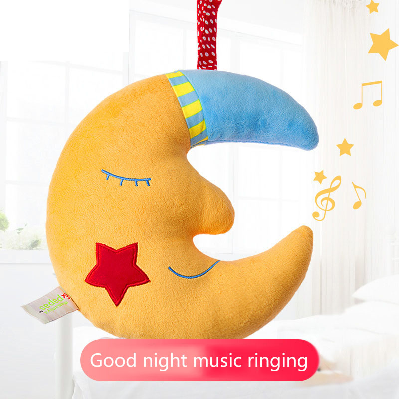 New Baby Toys For Stroller Music Star Crib Hanging Newborn Mobile Rattles On The Bed Babies Music Moon Educational Plush Toy